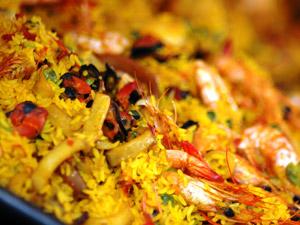 Paella gigante en Delicias