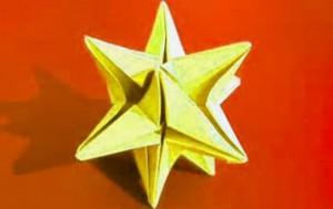 origami en Navidad