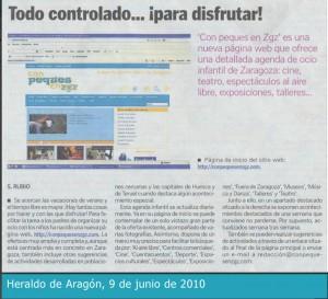 conpequesenzgz en Heraldo Escolar, 9 de junio 2010