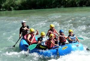 Rafting familiar por el Gallego