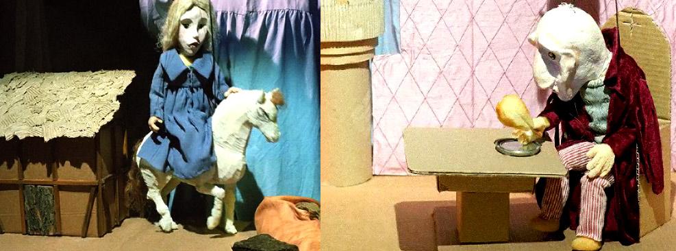 la bella y la bestia titeres para niños en Arbolé
