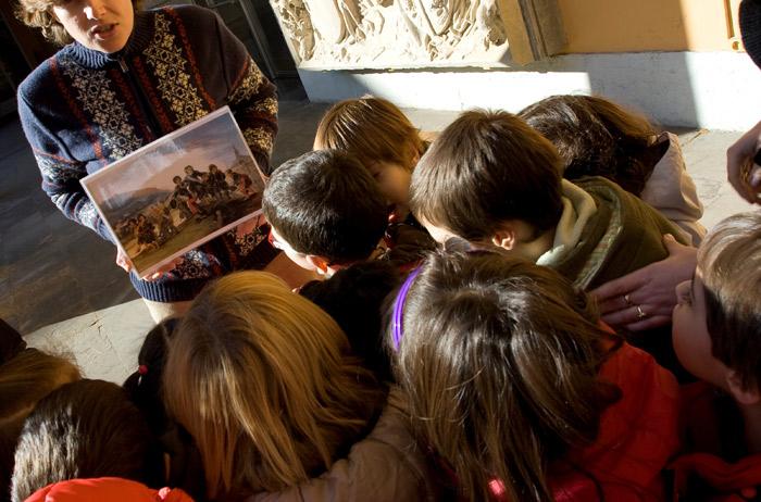 Peques en el Museo de Zaragoza