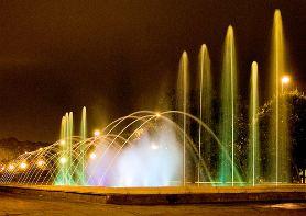 Espectáculo de agua, luz y sonido