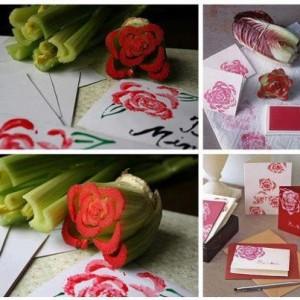 postales de Navidad con verduras