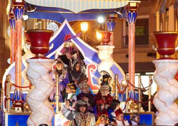 Cabalgata de Reyes en Zaragoza.
