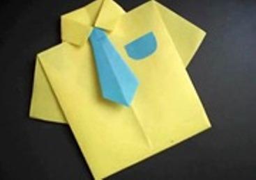 Camisa origami dia del padre