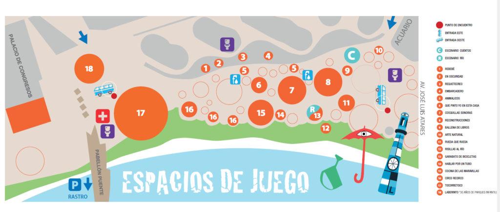 PLANO DEL PARQUE RIO Y JUEGO
