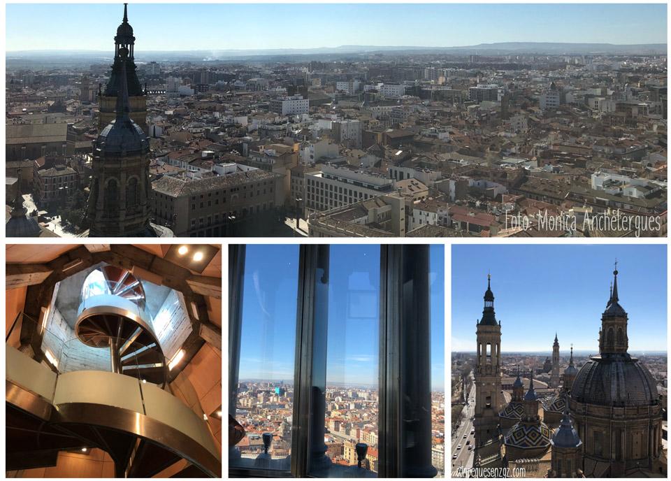 subida a la torre del Pilar