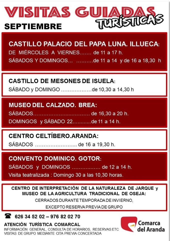 comarca del aranda, visitas