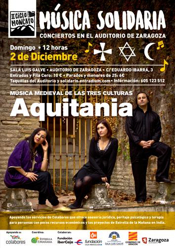 aquitania, concierto solidario