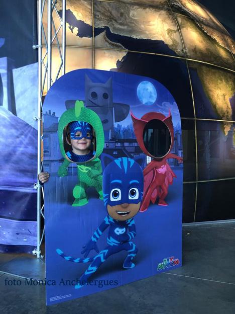 Los PJ Masks en el planetario de huesca