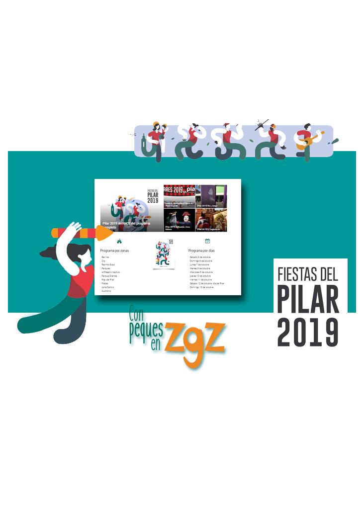 cartel de las fiestas del pilar 2019