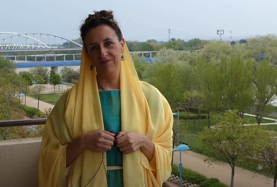 María Ángeles Parroqué, la romana en el balcón