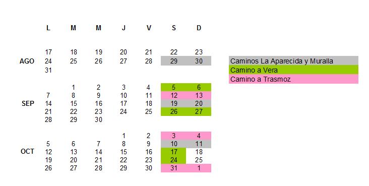 calendario visitas guiadas familiares