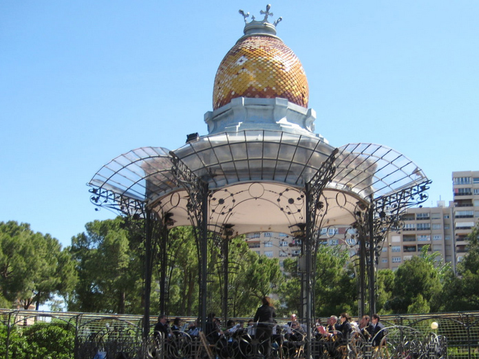 quiosco de la musica parque grande zaragoza